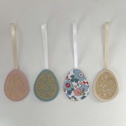 Easter decorations made with Liberty tana lawn and faux leather 3