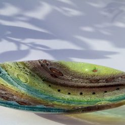 Fused Glass Woodland Bowl