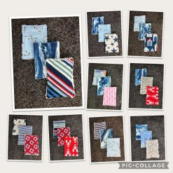 Mini reuseable face cloths make up remover sea theme