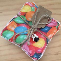 Elephant Bucket Bag Handbag with matching Chiffon Scarf, made with lilac faux and lilac elephant fabric