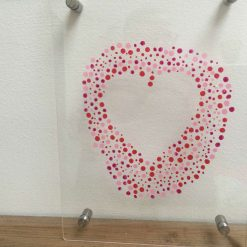 Hand painted pink heart