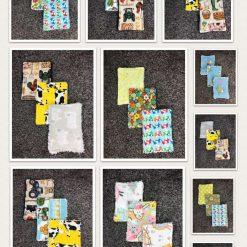 Mini reuseable face cloths make up remover farm/animal theme