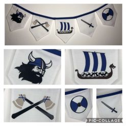 Blue Viking Bunting