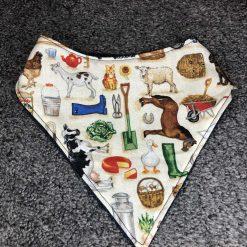 Farm Croft print baby dribble bandana bib