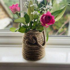 Heart Design Rope Vase