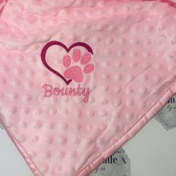 Personalised Pet Blanket | Dog | Cat | Puppy | Kitten | Embroidered | Bubble | Minky | Embossed