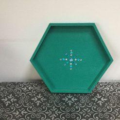 Hand painted hexagon tray