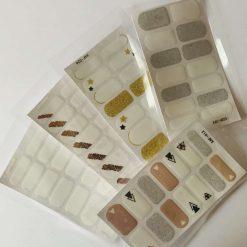 5 packs of self adhesive nail wraps- reds