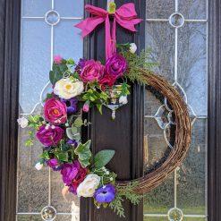 Spring Artificial Door wreath