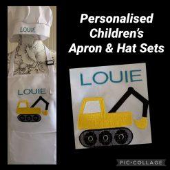 Personalised Children's Apron & Hat Set Digger