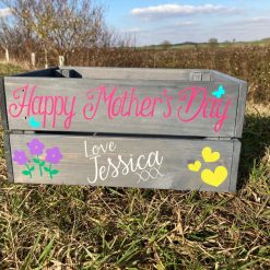 Personalised Wooden MOTHER'S DAY Gift Crate Box free P&P