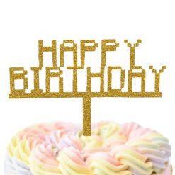 8 Bit Happy Birthday Cake Topper, Retro, Game Lovers