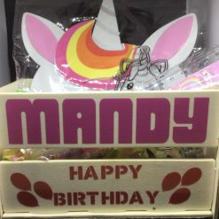 Personalised Mini Birthday Crate Dinosaur Theme