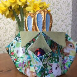 Easter Basket from Laura Ashley Bacall Hedgerow fabric  and Easter Bunny Cotton