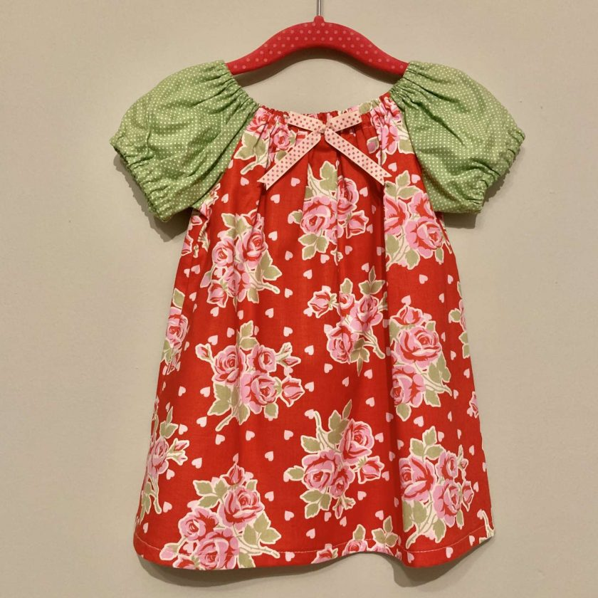 Handmade Dress-With Matching Headband. 12-18 months (only 1 left)