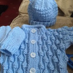 Boys blue knitted set