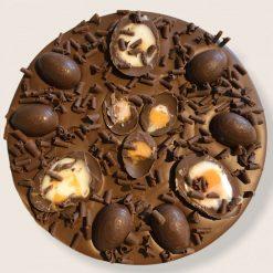 """Luxury Belgian Chocolate 7"""" Pizza """"Easter Galactic Hunt"""""""