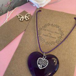 Beautiful Purple Heart Necklace