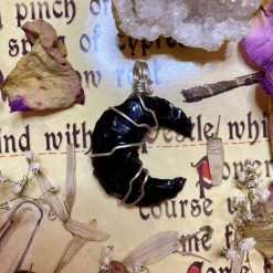 Obsidian Moon necklace 2