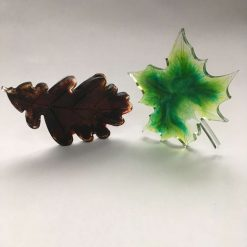 Epoxy Resin Alcohol Ink Leaves