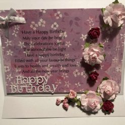 Hand made Pop up Easel  'Happy Birthday Card  - SOLD