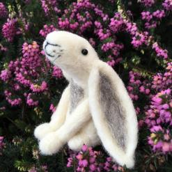 Needle Felting Kit - White Moon Gazing  Hare
