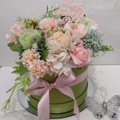 Artificial Flower Hatbox