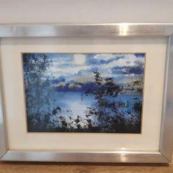 An eye for a view Original framed acrylic on artist board