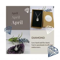 Diamond Birthstone Pendant (April)
