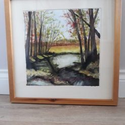 Autumn is upon us Watercolour Framed