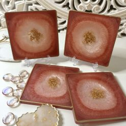 'Copper Rosy Lee' Resin Coasters