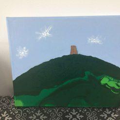 Glastonbury Tor acrylic painting
