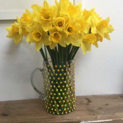 Glass spring jug/vase