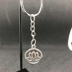 Lotus flower key ring, bag charm