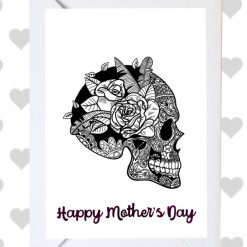 Bright Mother's Day Skull Card