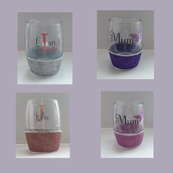 Personalised Glitter Tumbler Glass, Personalised Gifts, Mothers Day Gift, Birthday Gifts, Personalised Wine Glass, Personalised Unique Gifts, Glitter,  Gift Ideas, Gift For Moms, Gin Glass
