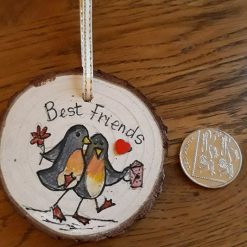 Best friends wooden circle