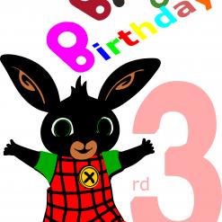 Birthday Cards Age 3 DIY Digital File | Cricut | Silhouette | SVG ESP DXF JPEG PNG PDF