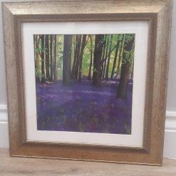 Bluebell woods (Print) Framed