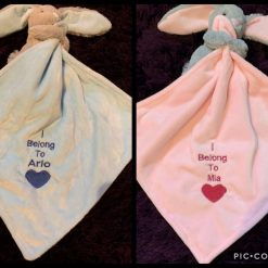 Embroidered Baby Bunny Comforter