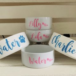 Personalised Pet Bowl | Small | Ceramic | Cat | Small Dog | Rabbit | Food | Water