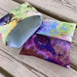 Cloth Menstrual Pad Wrapper (medium storm clouds)
