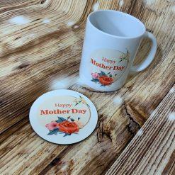 HAPPY MOTHERS DAY MUG AND COASTER SET2
