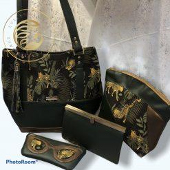 Jungle Nights Collection, shoulder bag, purse, makeup bag, handcrafted, handbag collection