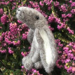 Needle Felting Kit - Grey Moon Gazing  Hare