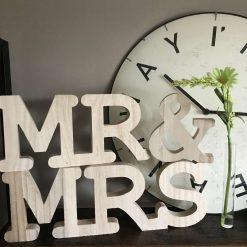 Wooden Mr & Mrs 3D Letters