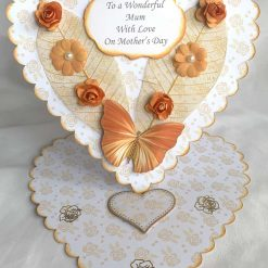 Boxed Mother's Day Heart Shaped Easel Card handmade