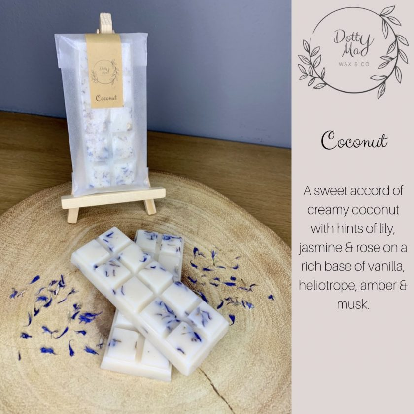 Natural Soy Wax Melts Large Snap Bar, Highly Fragranced, Various Scents