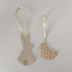 Easter decorations made with Liberty tana lawn and faux leather 1