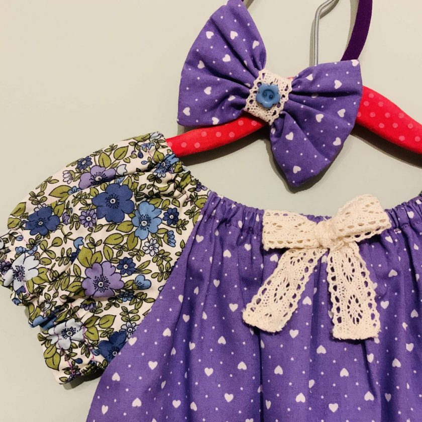 Handmade Dress-With Matching Headband.12 -18 months (only 1 left) 2